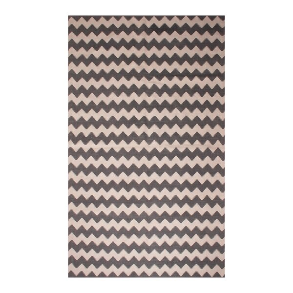 Carlos Chevron 100% Cotton Hand-Woven Gray Area Rug by Harriet Bee
